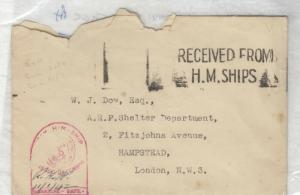 GB 1942 HM Ships Letter A & H Type 2057 With Place Stamp Blank Cover PH J4052