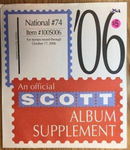 Scott National #74 Item #100S006 Album Supplement (through 2006)