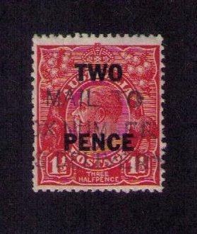 Australia (1930) Sc 106  kgV head used two pence on 1-1/2p Very Fine