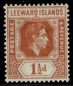 LEEWARD ISLANDS GVI SG101, 1½d chestnut, M MINT.
