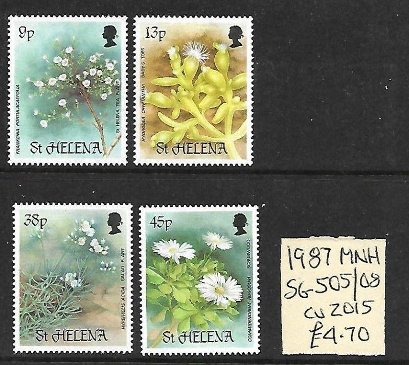 St. Helena MNH 505-8 Flowers 1987