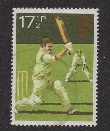 Great Britain  #927  used  1980  sport 17 1/2 p  cricket