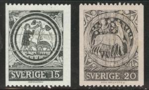 SWEDEN Scott 739-740 MNH**coils