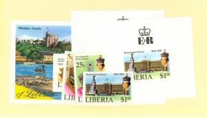 Liberia Scott 813-815,C221 NH