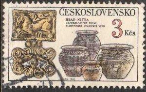 CZECHOSLOVAKIA 2418, 3K NITRA POTTERY. USED.  VF. (4)