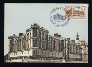 FRANCE - 1967 - Yv.1501 CHÂTEAU DE ST-GERMAIN-EN-LAYE CARTE MAXIMUM FDC