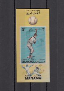 Manama, Mi cat. 918, BL176. Baseball 2-D s/sheet. ^