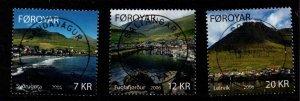 Faroe Islands Sc 467-69 2006 Villages stamp set used