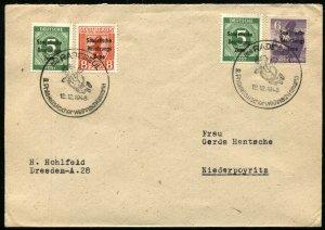 GERMANY Soviet Zone Radebeul 1948 2nd Philatelic Christmas Market Postage Stamps
