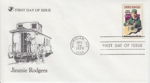 1978 Jimmie Rodgers (Scott 1755) Readers Digest FDC
