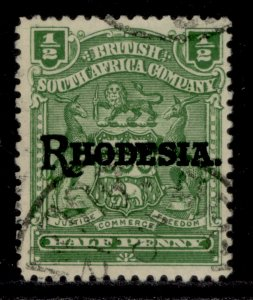 RHODESIA EDVII SG100, ½d green to deep green, FINE USED.
