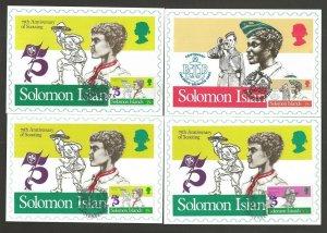 1982 Solomon Islands World Scout maximum FD card set