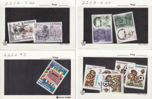 SPAIN 8 STOCK CARDS COLLECTION LOT MODERN MINT NEVER HINGED VF SOUND