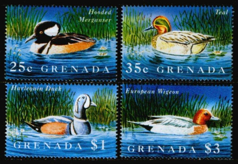 1995 Grenada 2872-2875 Birds / Ducks 7,00 €