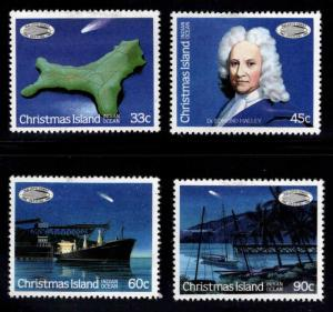 Christmas Island Scott 179-182 MH*  Halley's comet set