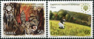 Serbia. 2013. European Nature Protection (MNH OG) Set of 2 stamps