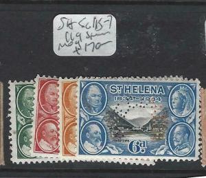 ST HELENA  (P2903B)  CENTENARY 4 VALUES PERF SPECIMEN  SG 115-7, 119S   MOG