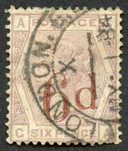 SG162 6d on 6d Lilac Wmk Imperial Crown Plate 18 Fine Used Cat 150 pounds