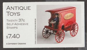 U.S. Scott #3645b-3645d BK292 Antique Toys Car/Train Stamp - Mint NH Booklet