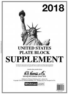 H E Harris US PLATE BLOCK Supplement for Stamp issued in 2018