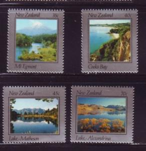 New Zealand Sc 784-7 1983 scenic views stamp set mint NH