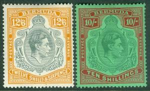 BAHAMAS : 1938-53. Stanley Gibbons #119c-20a. Mint. Both NH but small gum skips.