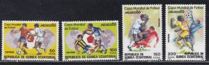 Equatorial Guinea #  101-104, World Cup Soccer, NH, 1/2 Cat.