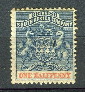 RHODESIA: 1890-92 early classic Springbok issue unused Shade of 1d. value