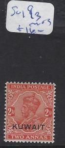 KUWAIT  (PP2102B)  ON INDIA KGV  2A  SG 19B     MOG