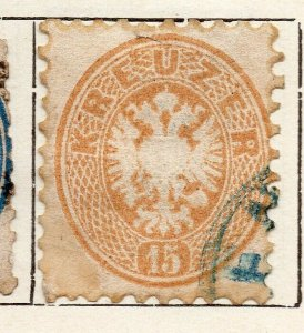 Austria 1863 Early Issue Fine Used 15kr. NW-11533