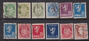 NORWAY^^^^^1917-24    used CLASSICS  $$@ dcc752nor