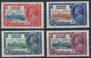 FALKLAND ISLANDS 1935 KGV SILVER JUBILEE SET