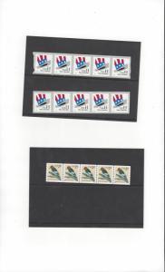 US 3045 Woodpecker & 3266 Uncle Sam's Hat 3 PNC5's MNH