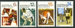 AUSTRALIA 1971 Prevention of Cruelty to Animals Set Sc 500-503 MNH