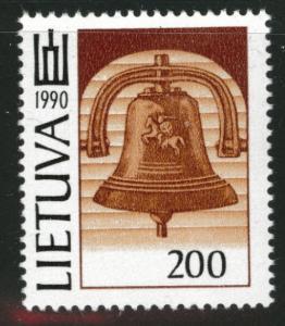 LITHUANIA LIETUVA Scott 384 MH*  Bell stamp