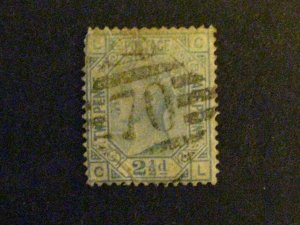 Great Britain #68 used plate 20 spacefiller c203 302