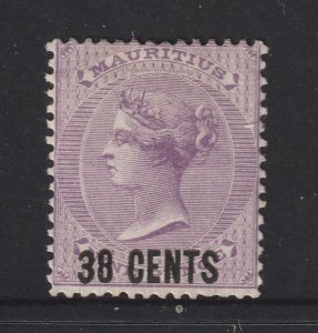 Mauritius a MH QV 38c on 9d from the 1878 set