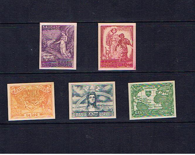 BRAZIL 1945 VICTORY SET ON CARD