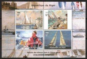 Niger 1998 SAILINGS and NAVIGATORS Sheet Perforated Mint (NH)
