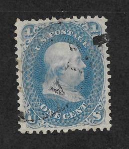 63 Used 1c. Franklin, Free, Insured Shipping