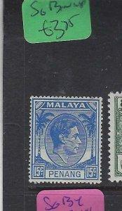 MALAYA  PENANG  (PP2901B)  KGVI  15C  SG 13   MNH