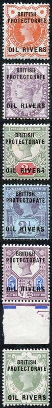 Niger Coast Protectorate SG1/6 1892-94 Set of 6 with Opt M/M
