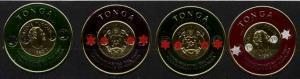Tonga 140/45, 4 MNH values