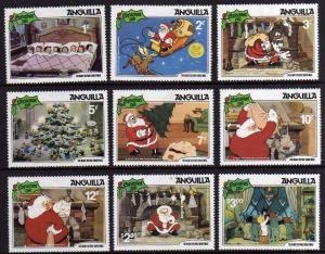 1981 Anguilla Scott 453-462 Disney Christmas MNH