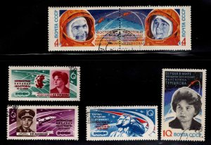 Russia Scott 2748-2753 Used CTO Space flight stamp set typical cancel