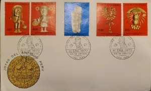 O) 1972 PERU, PUBLICIZE THE REVOLUTION AND CHANGE OF ORDER, ARCHEOLOGY, GOLD ...