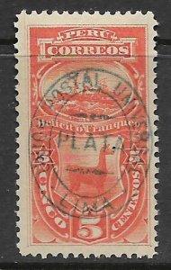 PERU J7 HINGED STEAMSHIP AND LLAMA
