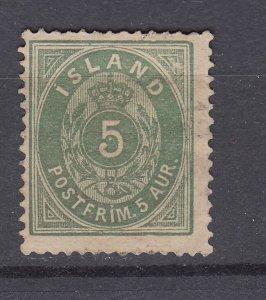 J29744, 1882-89 iceland used #18 perf 14 x 13 1/2