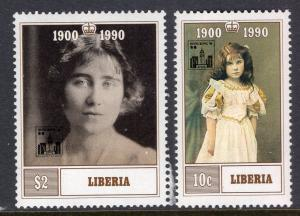Liberia 1162-1163 Queen Mother MNH VF