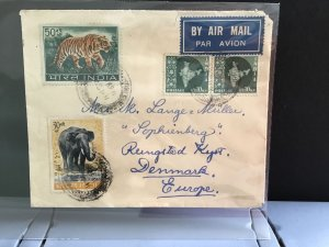 India Air Mail to Denmark  stamp cover R31651